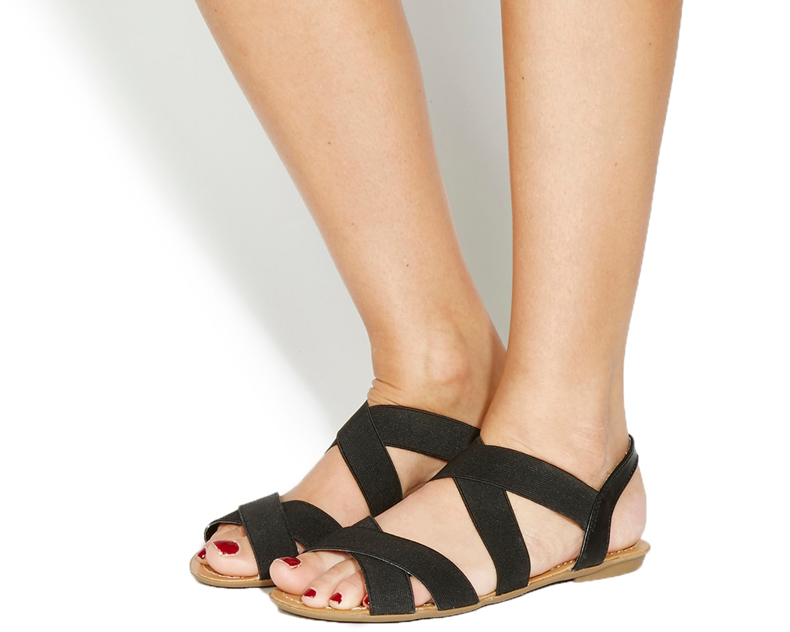 Womens-Office-Bermuda-Elastic-Sandals-BLACK-Sandals