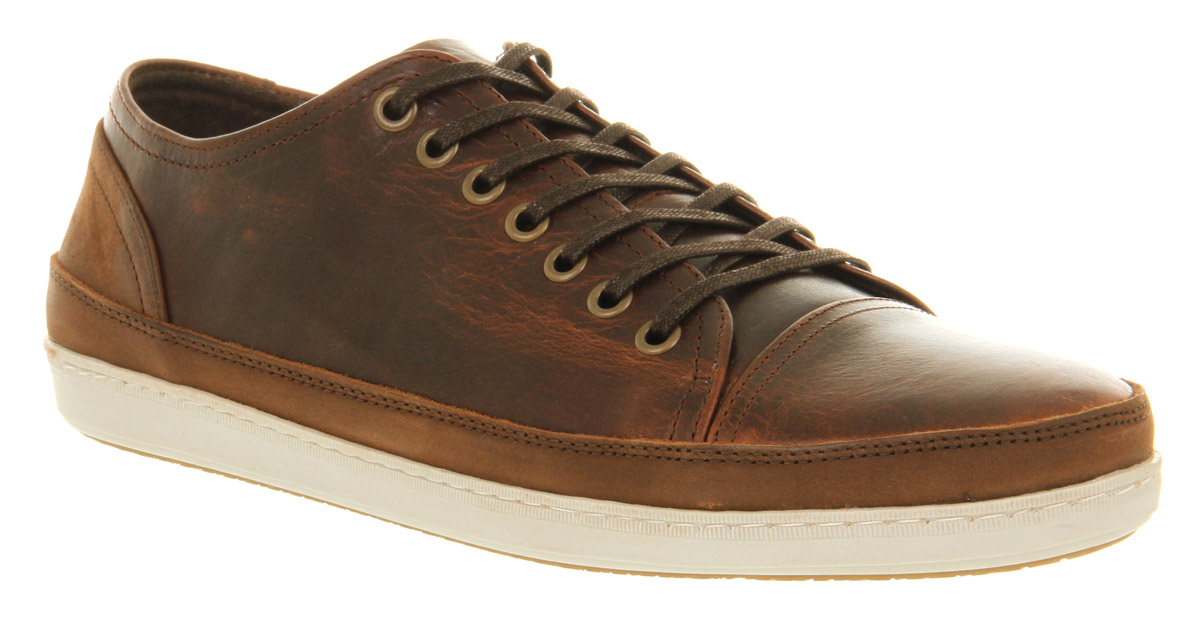 mens office shark lace brown leather casual shoes ebay
