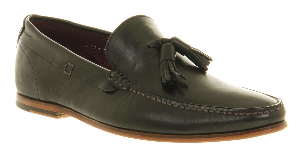 mens poste lorenzo tassle loafer black leather formal