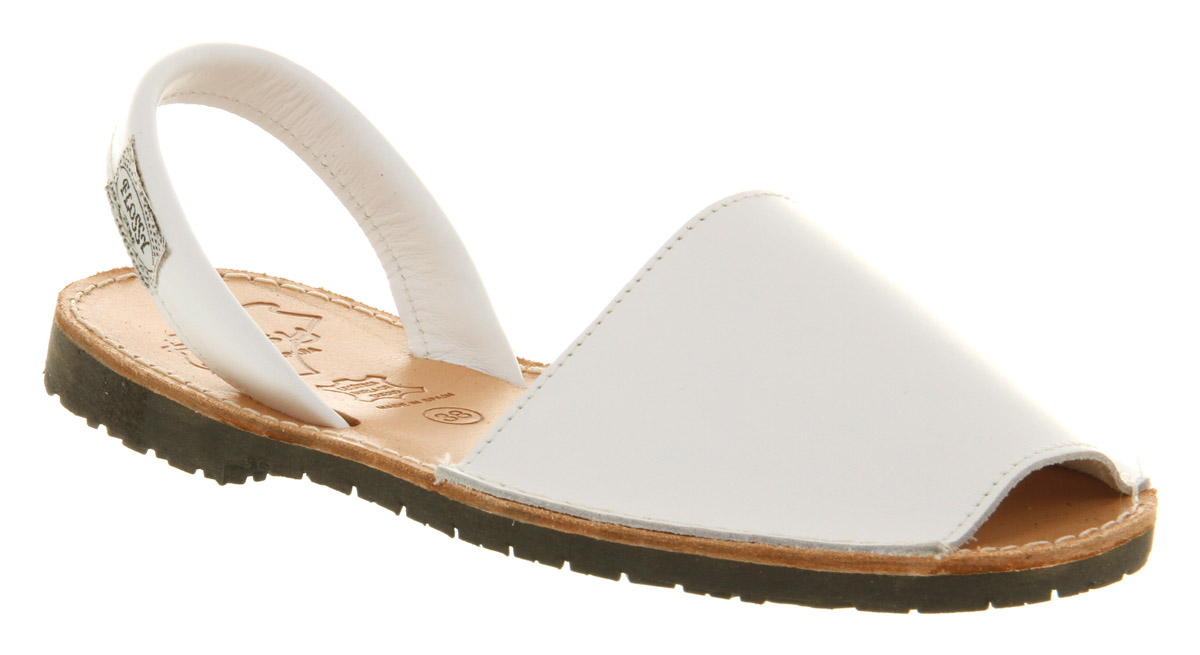 Womens-Flossy-Majorca-Sandal-White-Leather-Sandals