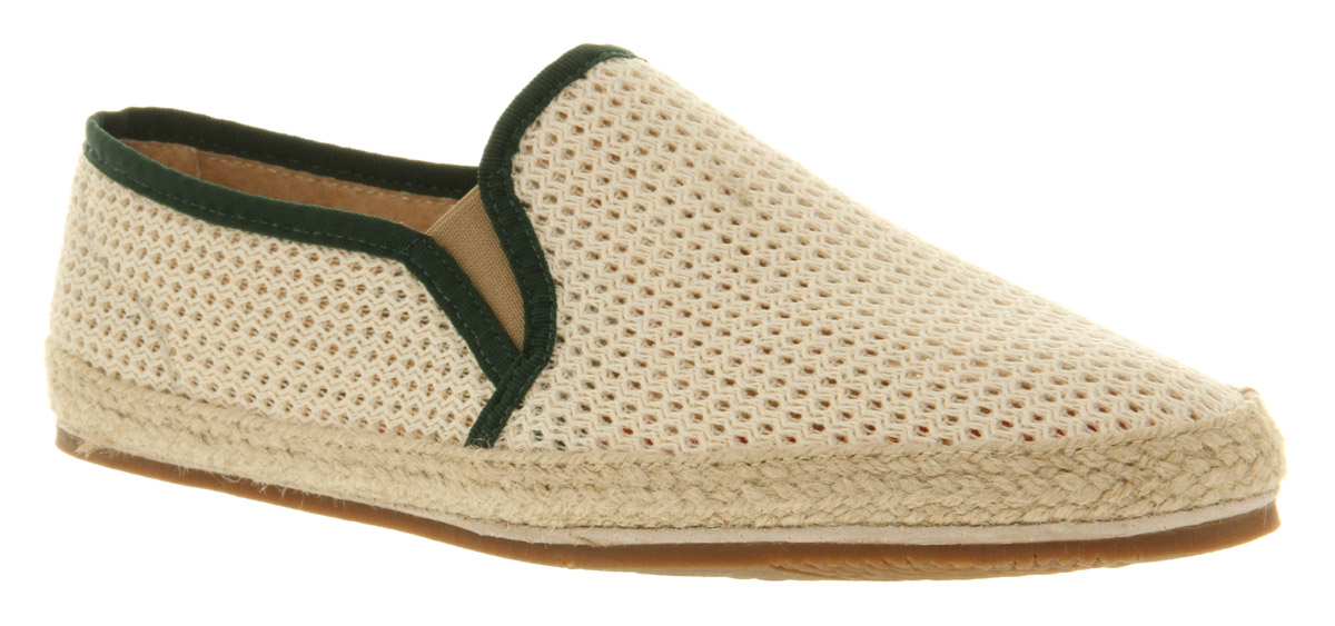 Mens-H-By-Hudson-Belafonte-Mesh-Slip-Beige-Mesh-Casual-Shoes