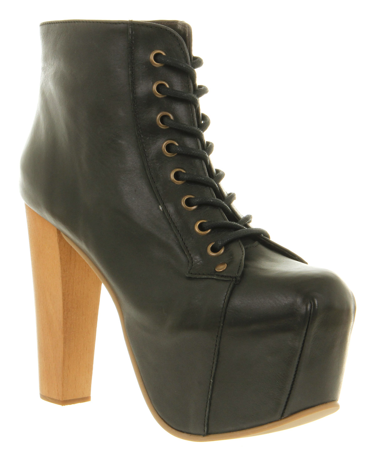 Womens jeffrey campbell lita platform ankle boot black leather boots - Jeffrey campbell lita platform boots ...