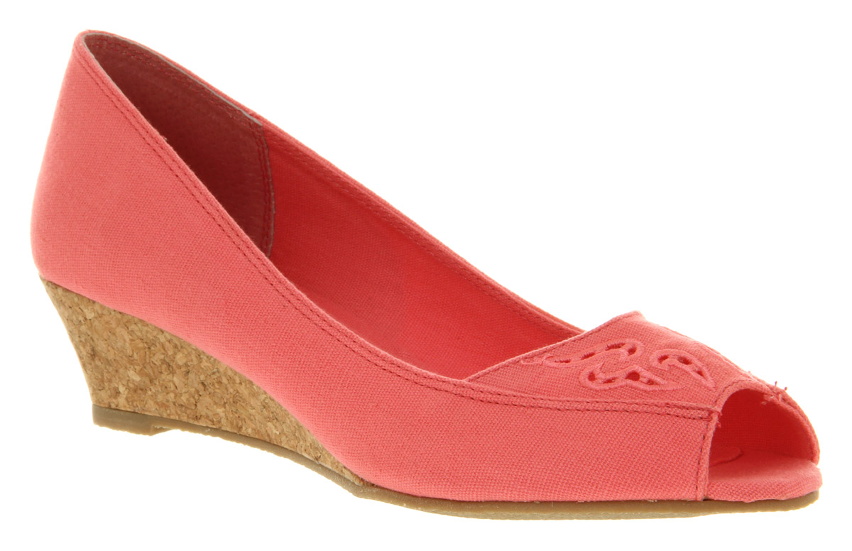 Womens-Office-London-Very-Merry-Pink-Canvas-Heels