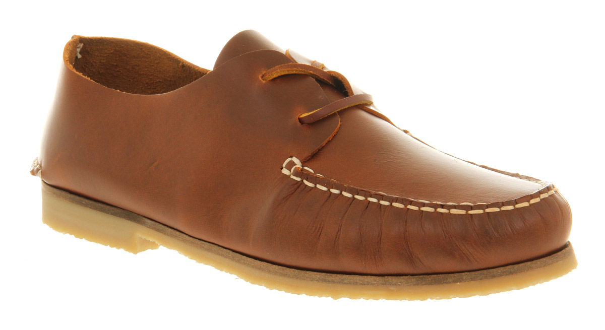 Mens-Ask-The-Missus-David-Apron-Lace-Tan-Leather-Casual-Shoes