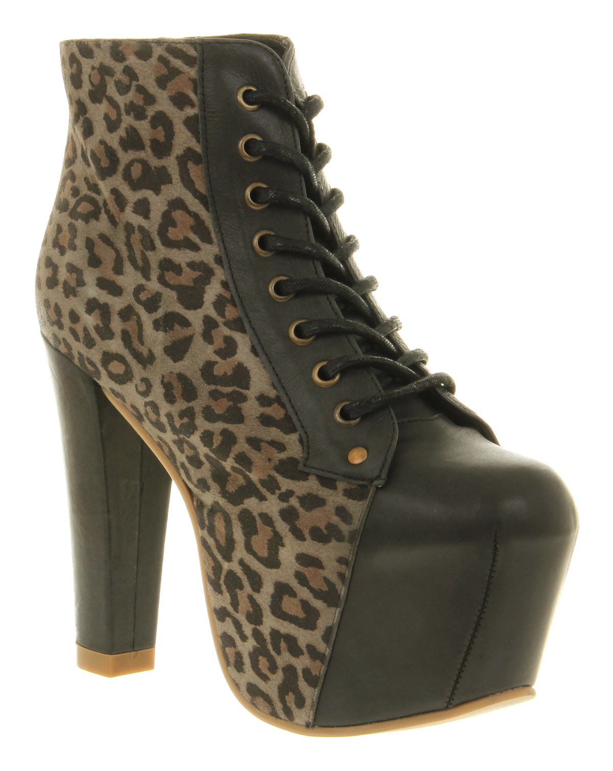 Womens-Jeffrey-Campbell-Lita-Platform-Ankle-Boot-Ante-gris-black-Boots