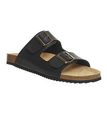 Mens Office Dubai Buckle Sandals Black