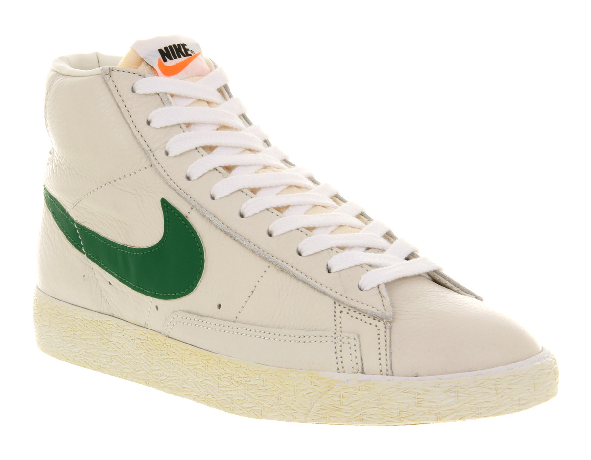 nike blazer mid white leather shoes for men