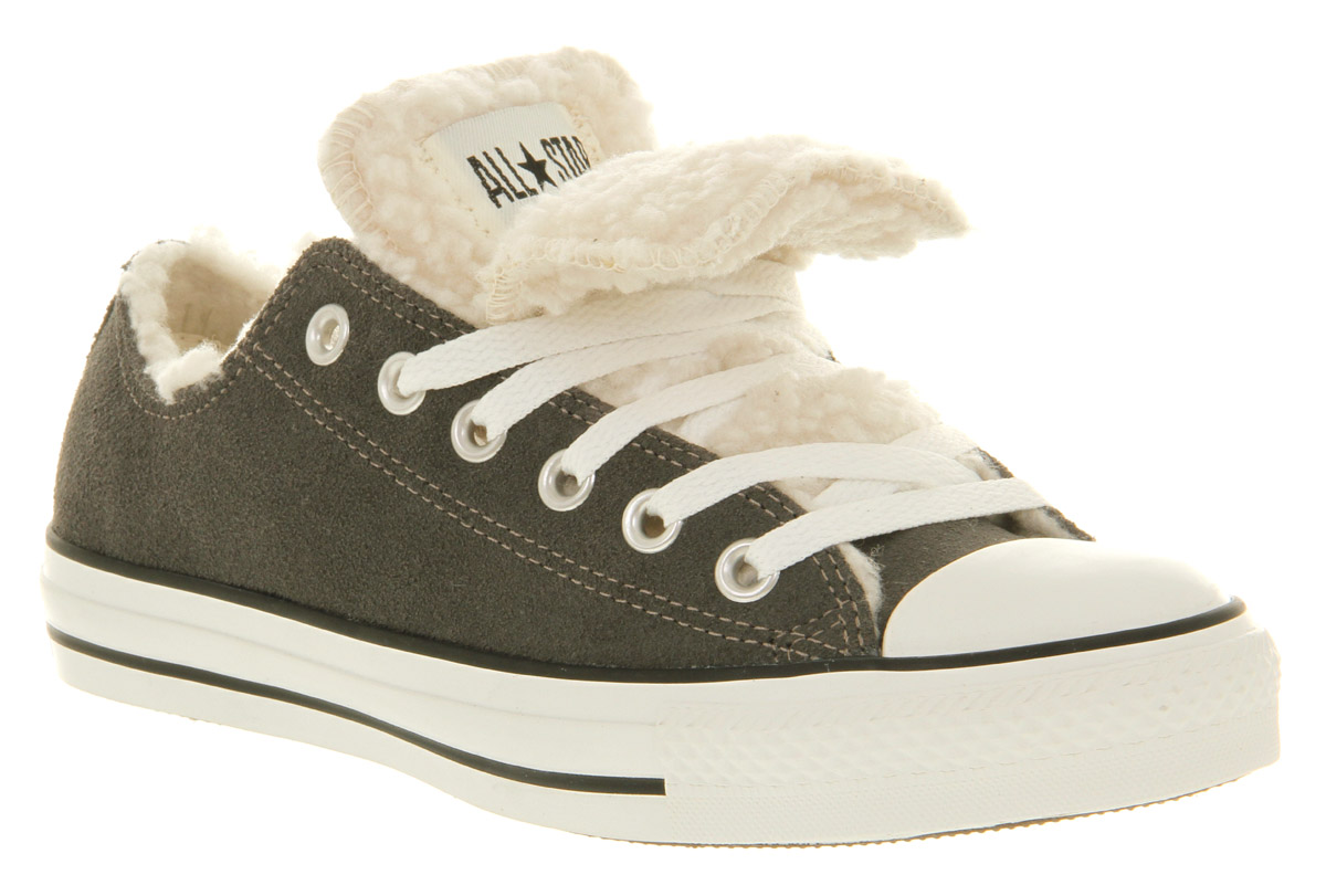 Converse-All-Star-Ox-Low-Double-Tongue-Charcoal-Shearling-Smu-Trainers-Shoes
