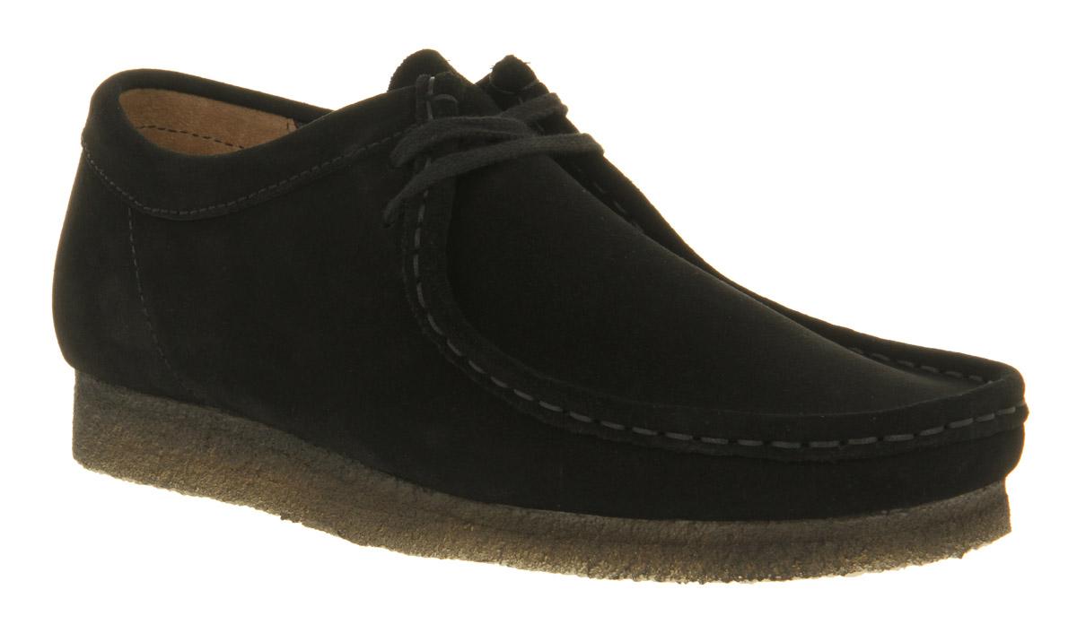 mens clarks originals wallabee shoes black suede casual