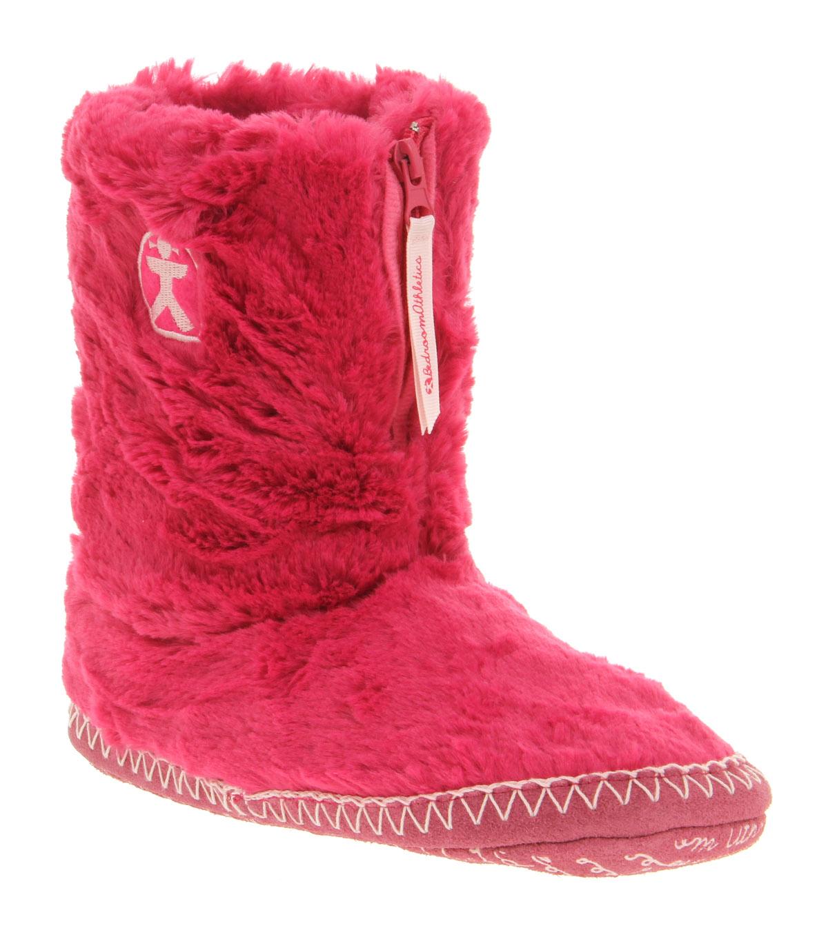 Womens Bedroom Athletics Marilyn Iii Slipper Boot Hot Pink Boots