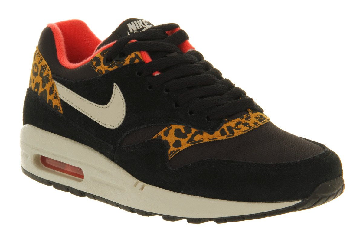 nike air max 1 l black gold leopard excl trainers shoes