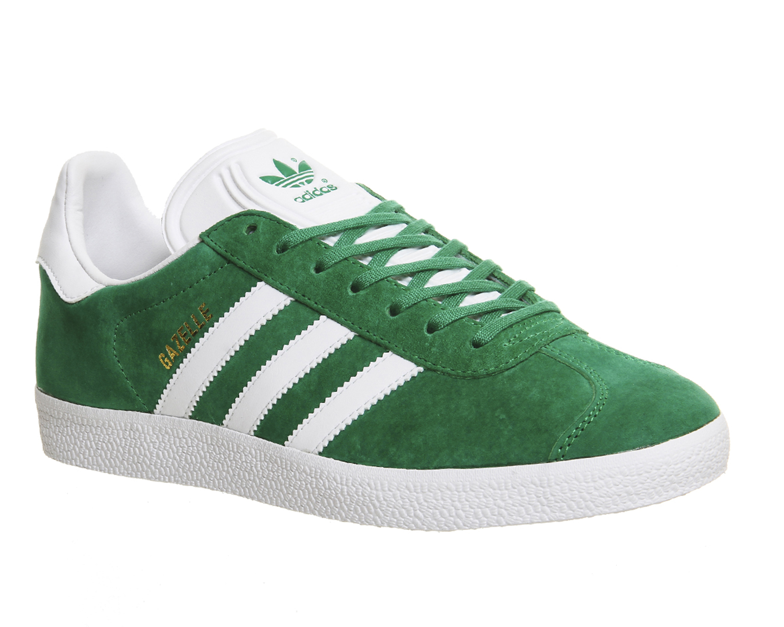 Adidas-Gazelle-GREEN-WHITE-Trainers-Shoes