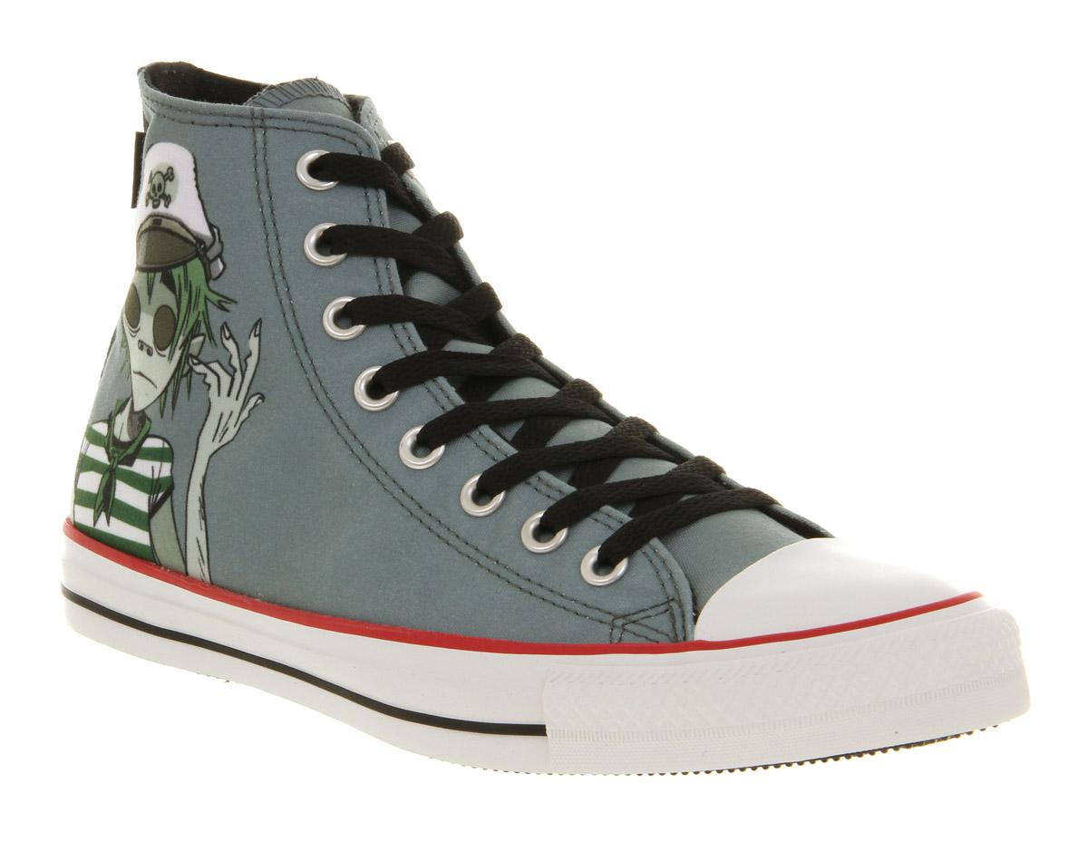 La foto se está cargando Converse-All-Star-Hi-Noodle-Gorillaz-Tenis-Zapatos