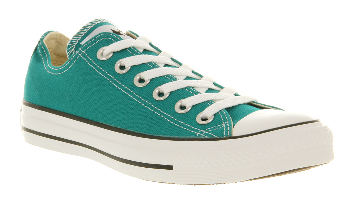 converse all star ox low parasailing green trainers shoes