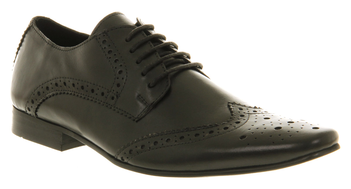mens office the colburnator black leather formal shoes