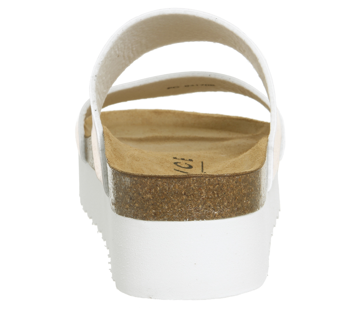 Womens Office Magnetic 2 Footbed Sliders Rose Gold Sandals