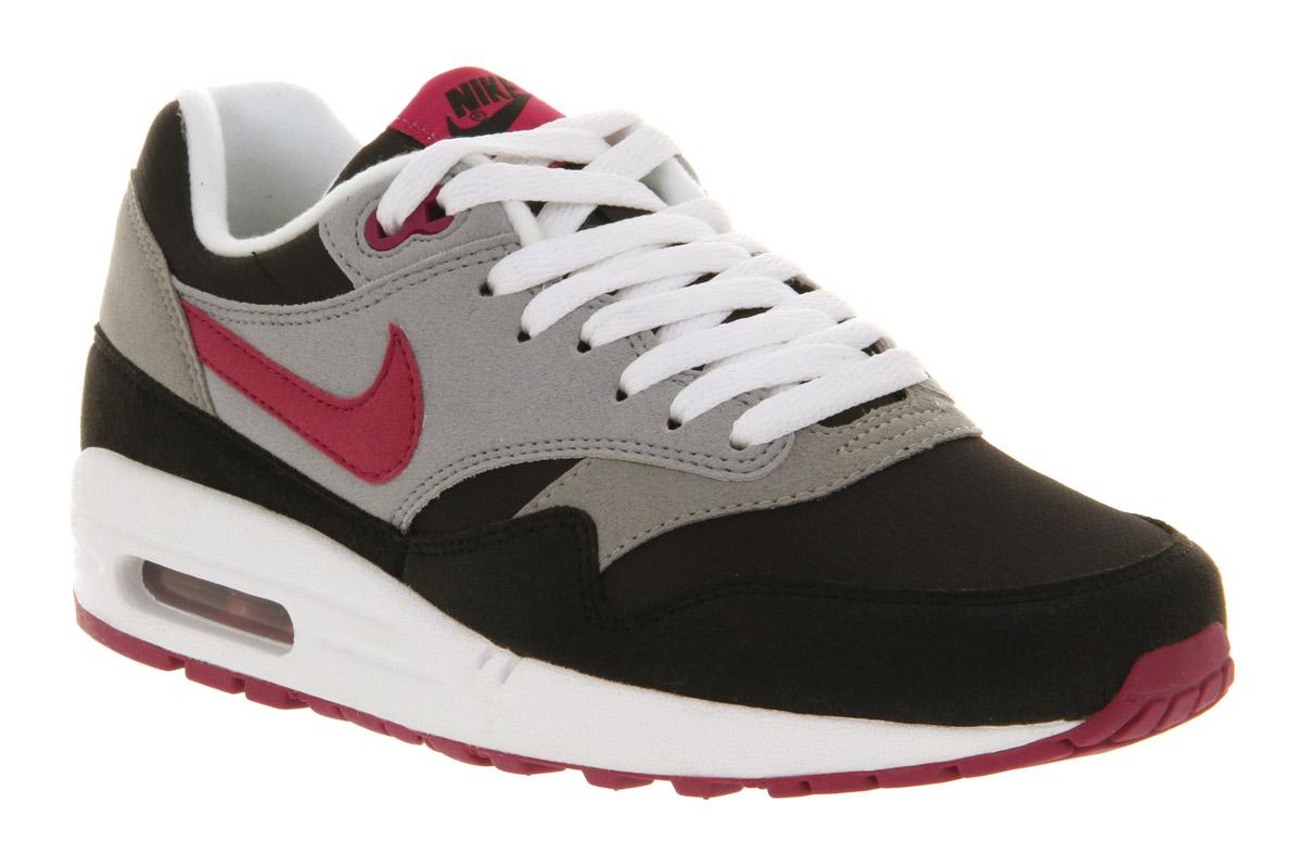 zxnpz Nike Air Max 1 (l) Black Rave Pink Trainers Shoes | eBay