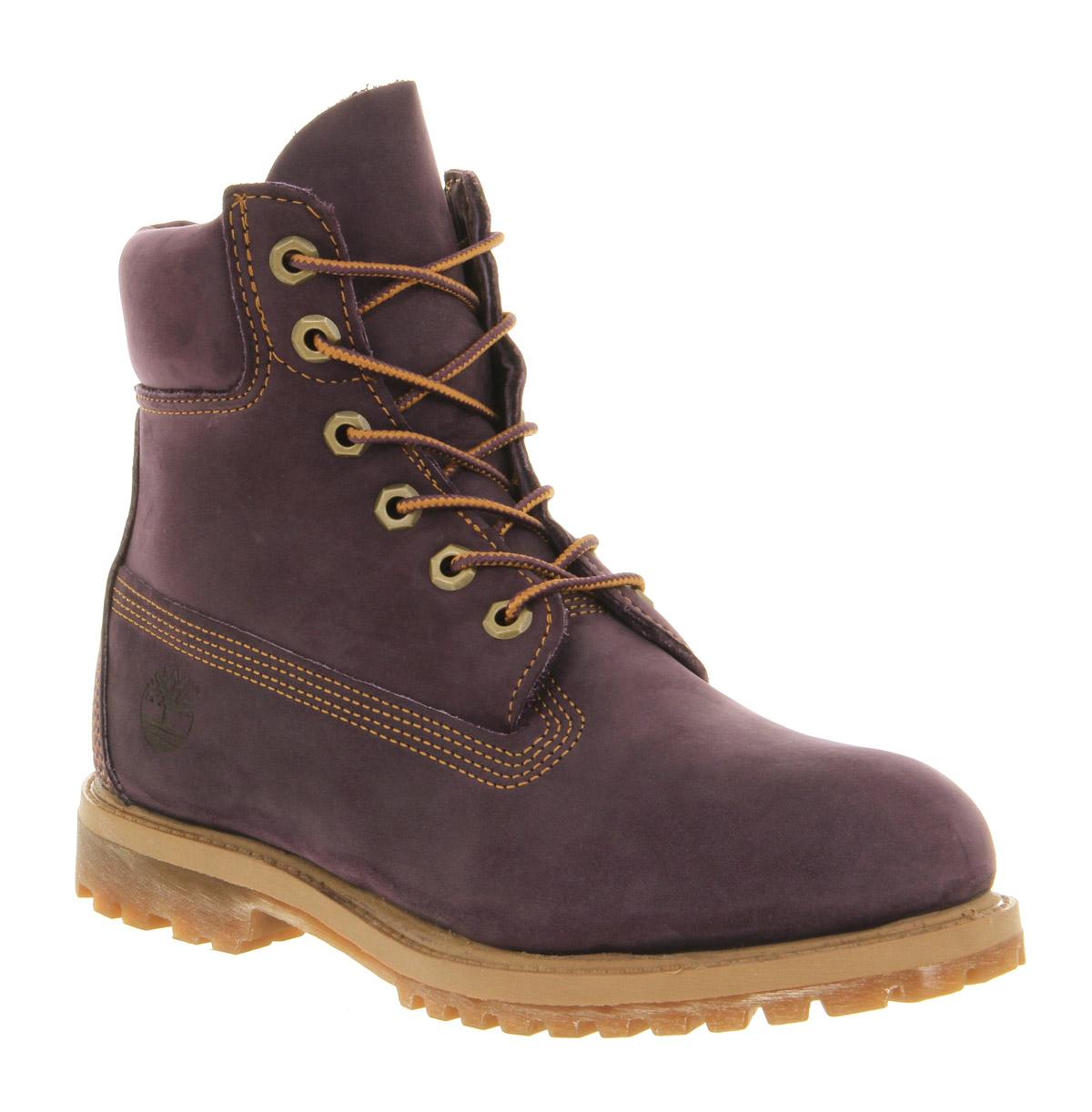 womens timberland premium 6 boot purple nubuck boots