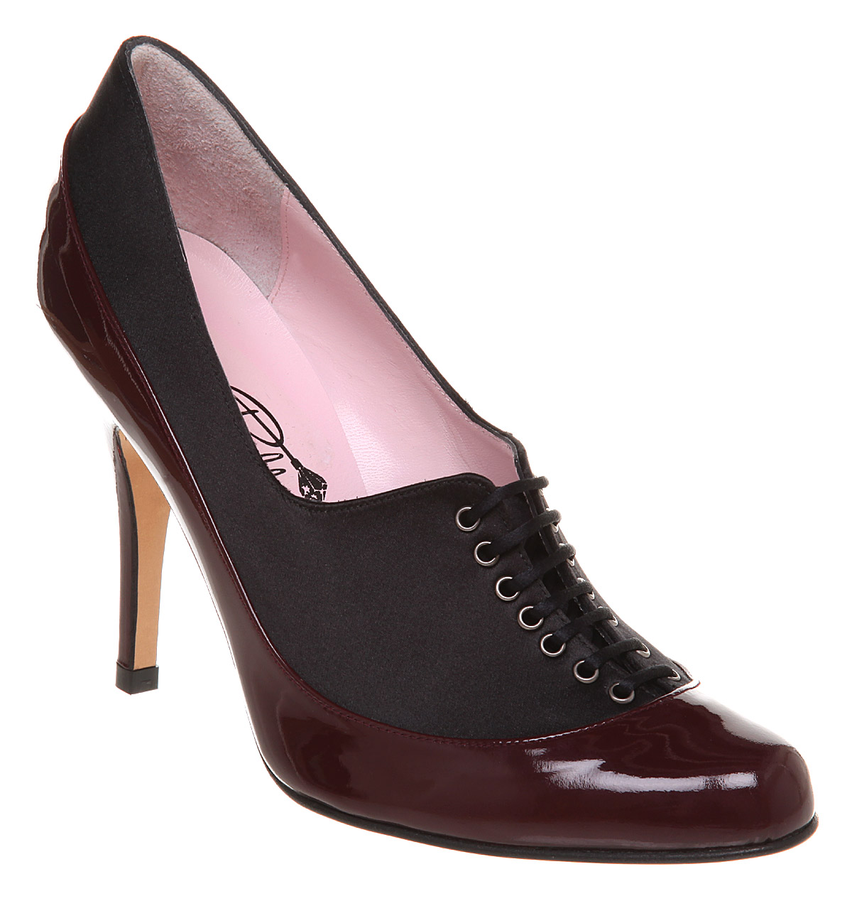 Womens-Minna-Parikka-Blaize-Lace-Toe-Court-Blk-Sat-burg-Pt