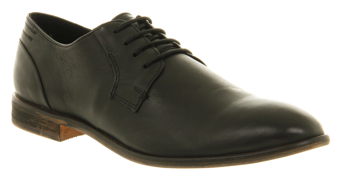 mens office ram toe black leather formal shoes ebay
