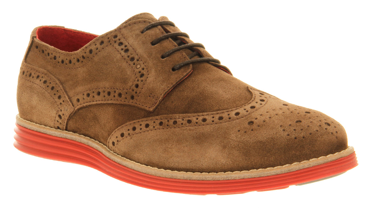 Mens Ask The Missus Uranus Brogue Brown Sde Red Sole ...