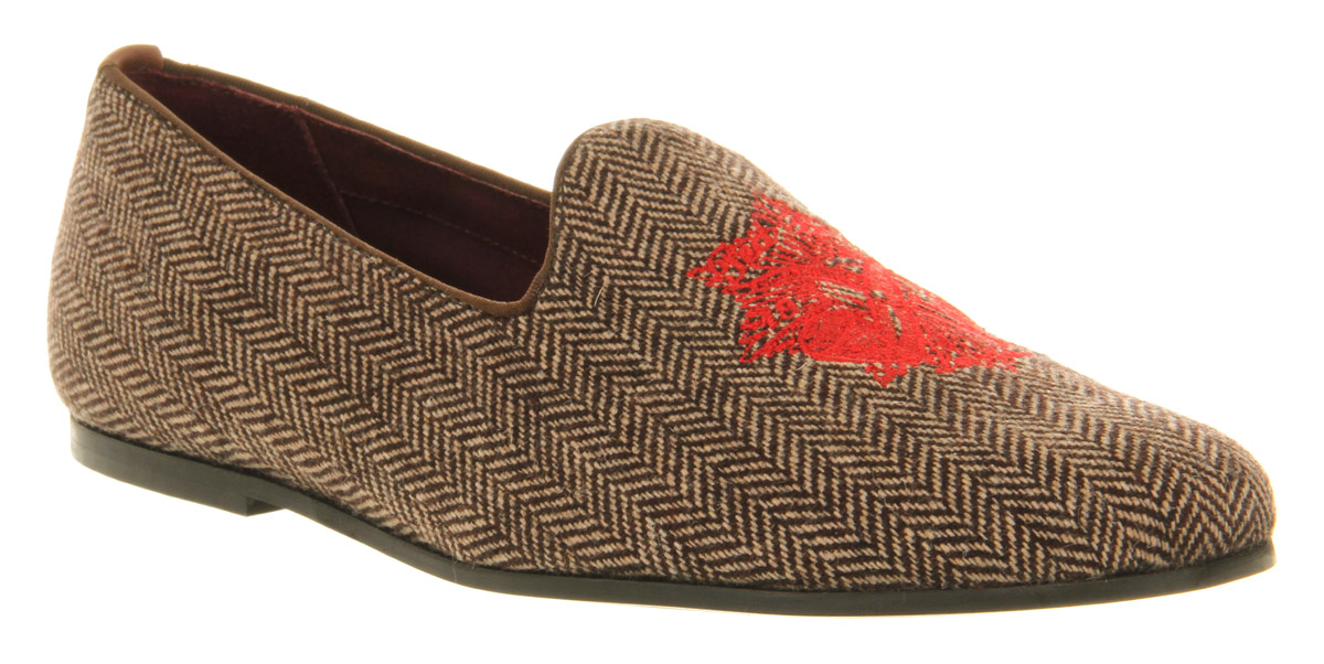 brown slipper shoes