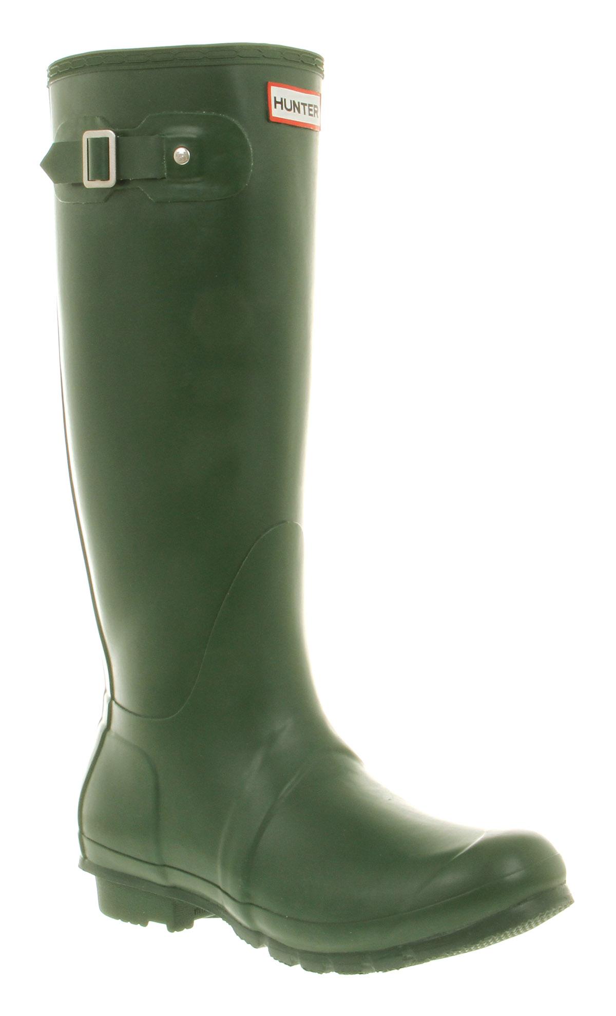 Mens Hunter Hunter Original Welly Green Rubber Boots | eBay