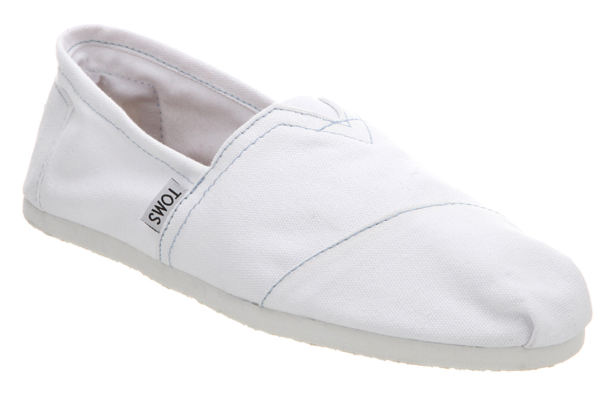 180041b45f8 Image is loading Mens-Toms-Toms-Classic-White-Canvas-Casual-Shoes