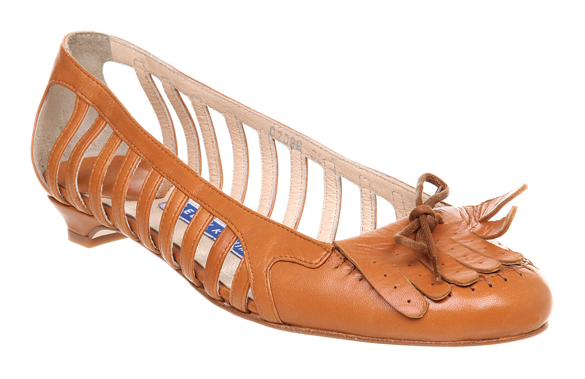 Womens-Eley-Kishimoto-Flat-Fringe-Shoe-Brown-Leather