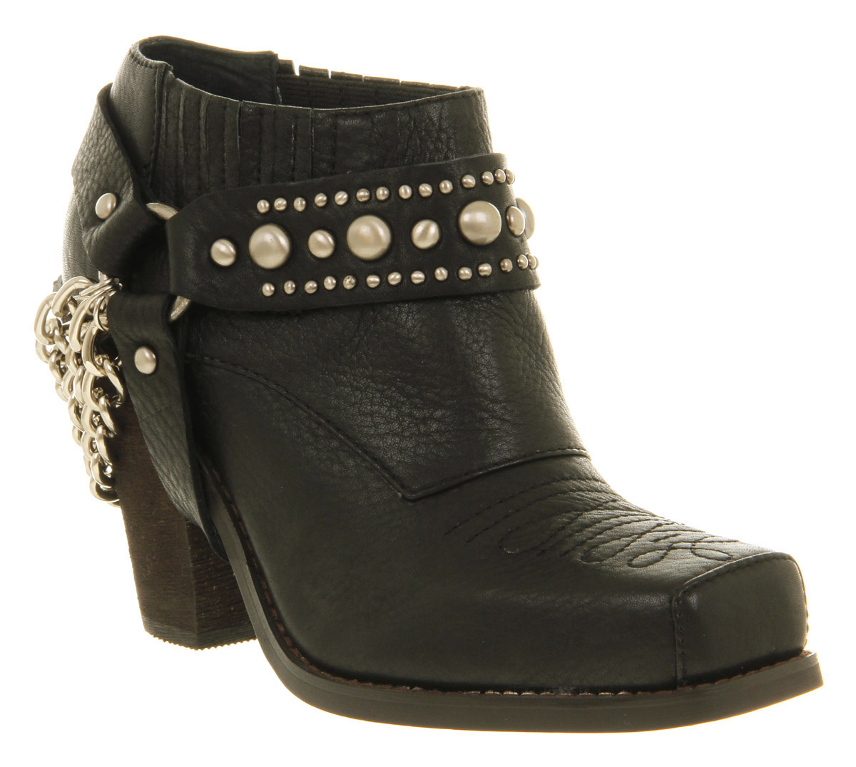 Womens-Jeffrey-Campbell-Gene-Ankle-Boot-Black-Leather-Boots