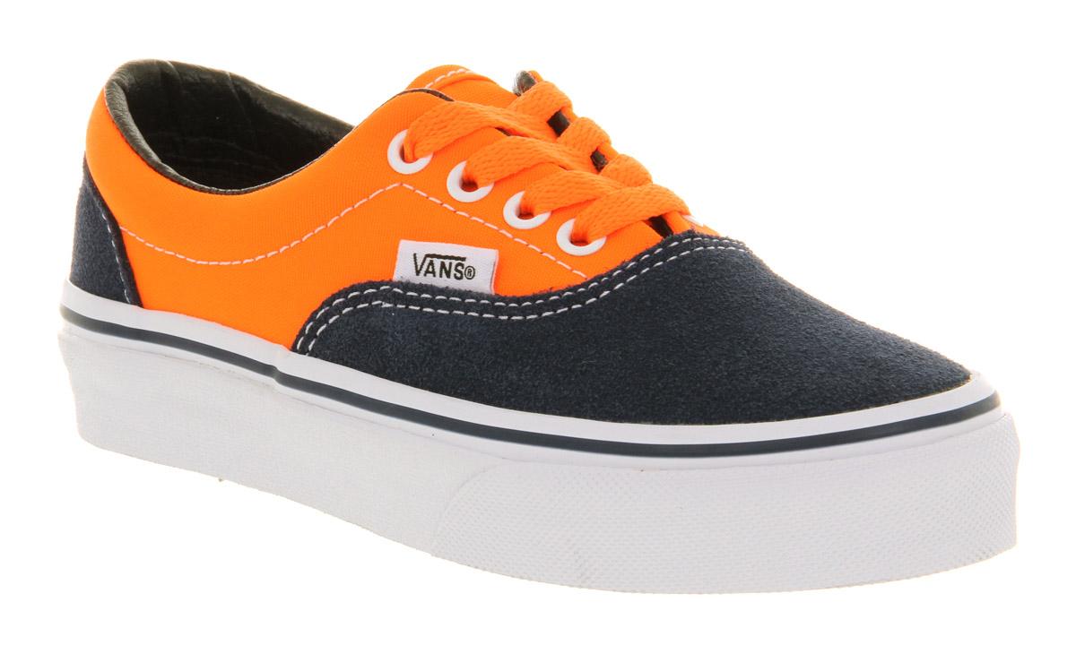 Kids Vans Era Kids Neon Orange Dress Blue Kids
