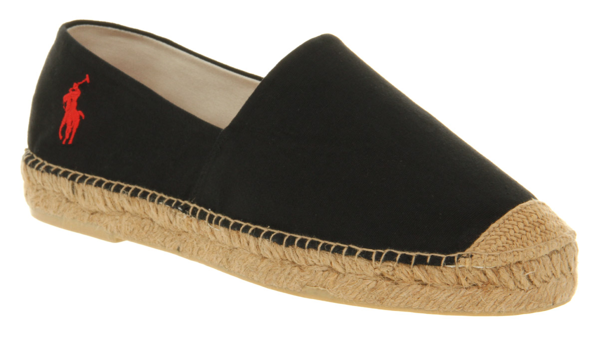 mens ralph lauren mooretown espadrille black canvas casual shoes ebay. Black Bedroom Furniture Sets. Home Design Ideas