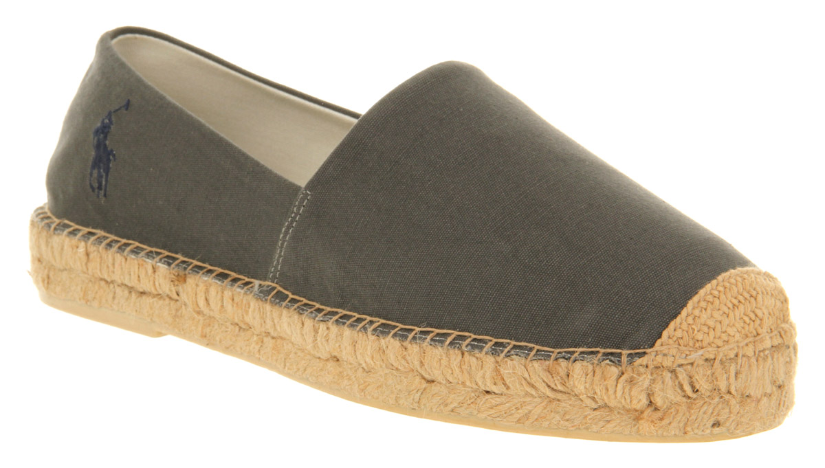 mens ralph lauren mooretown espadrille grey canvas casual shoes ebay. Black Bedroom Furniture Sets. Home Design Ideas