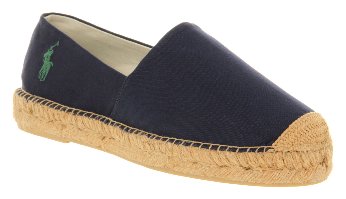 mens ralph lauren mooretown espadrille navy canvas casual shoes ebay. Black Bedroom Furniture Sets. Home Design Ideas