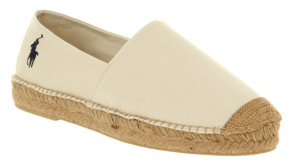 mens ralph lauren mooretown espadrille natural canvas casual shoes ebay. Black Bedroom Furniture Sets. Home Design Ideas