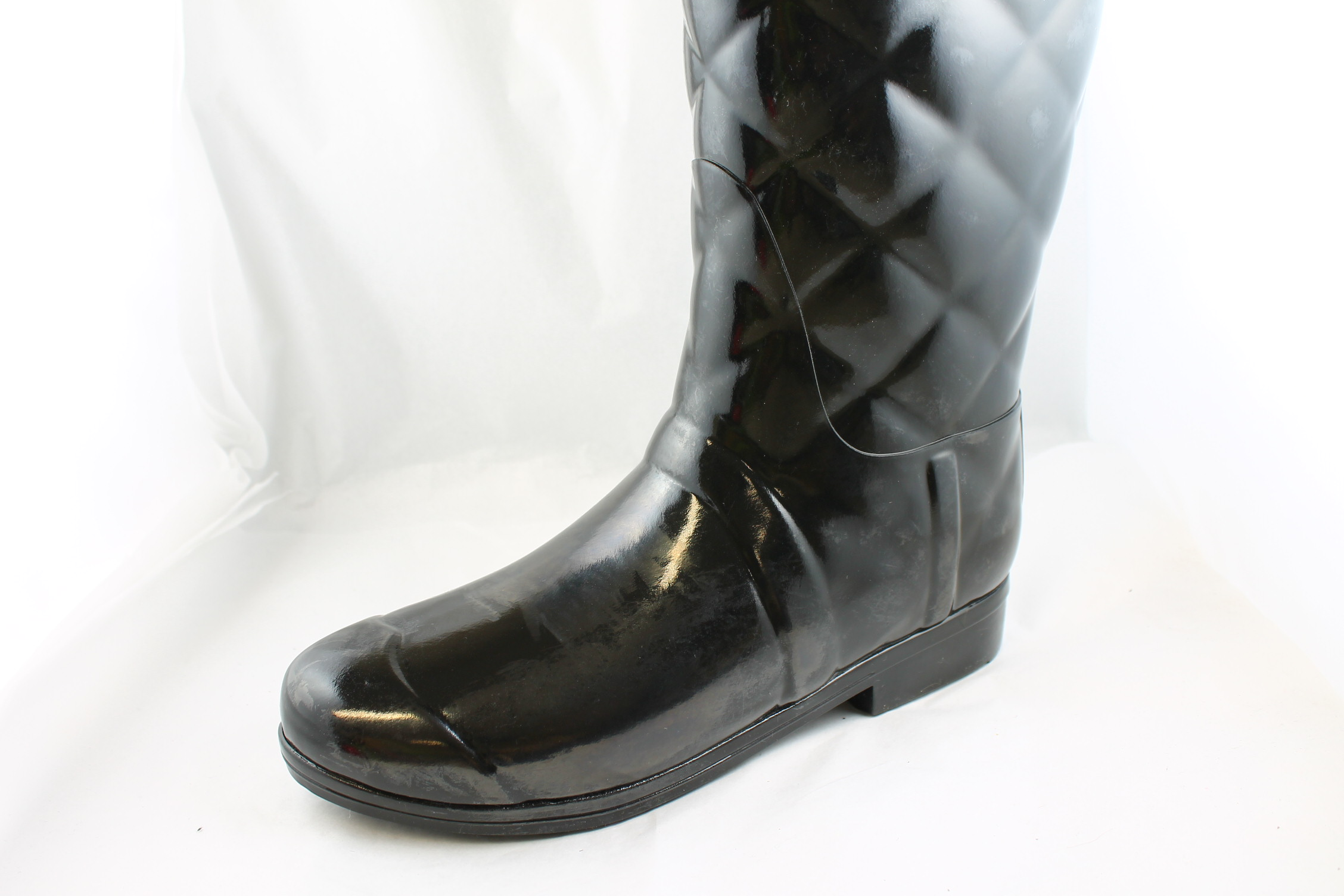 Perfect WOMENS HUNTER SANDHURST BLACK QUILTED WELLINGTON BOOTS WELLIES SIZE 3