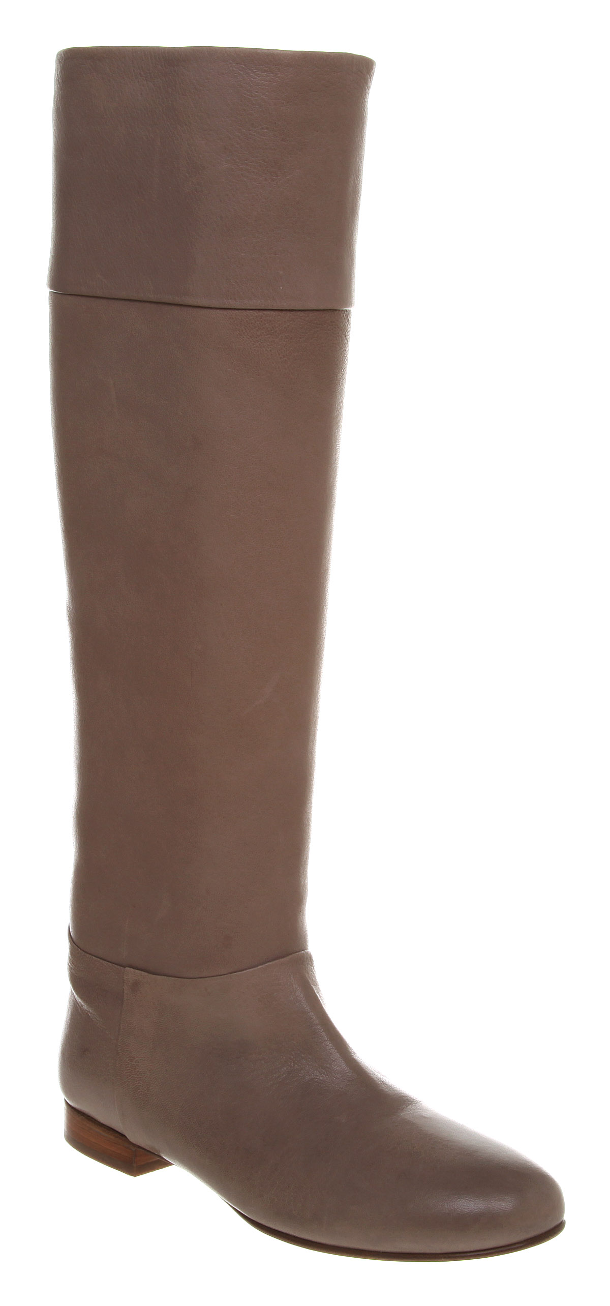 womens attimo flat knee boot grey leather