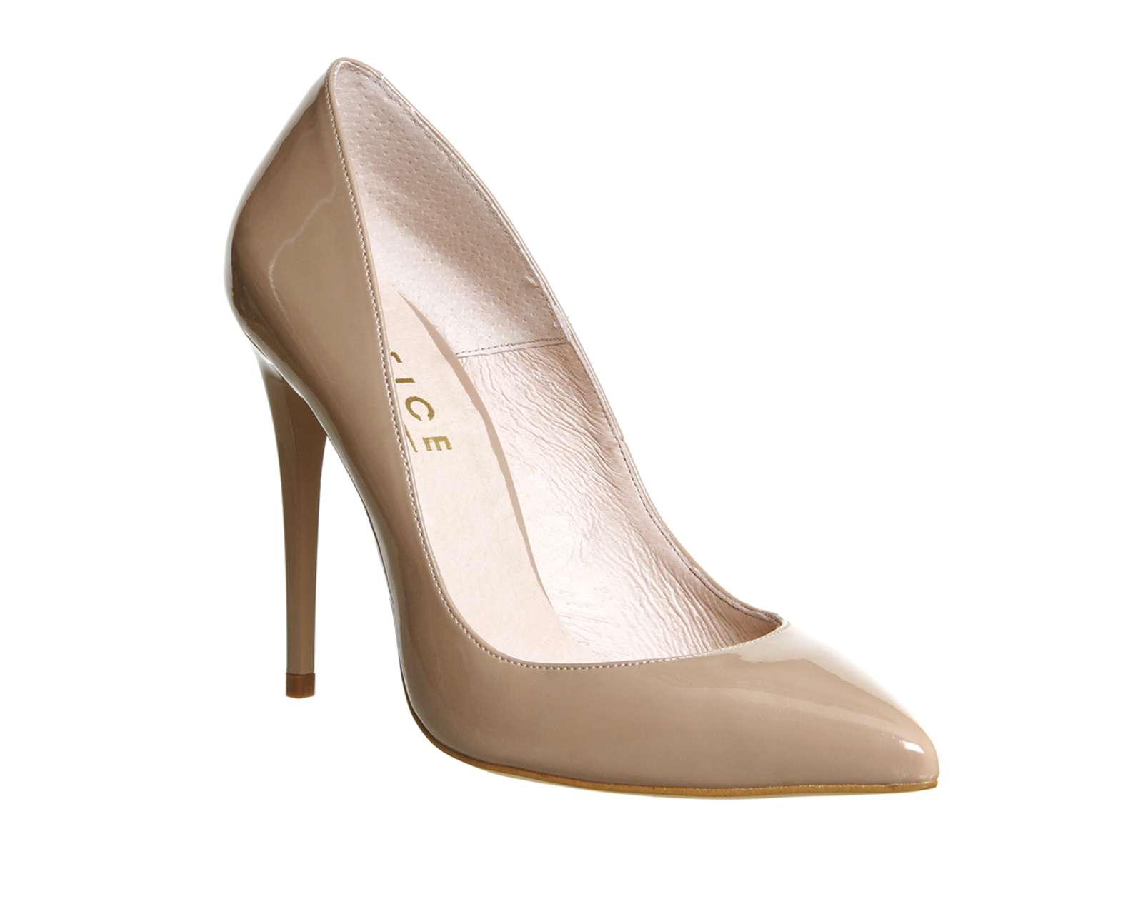 Womens Office Non Stop Point Court NUDE PATENT Heels   eBay
