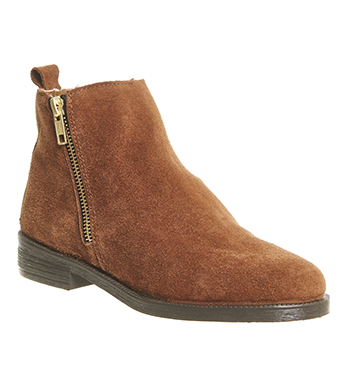 75108bc5cb9 Womens Office Lazy Days Flat Boots TAN SUEDE Boots