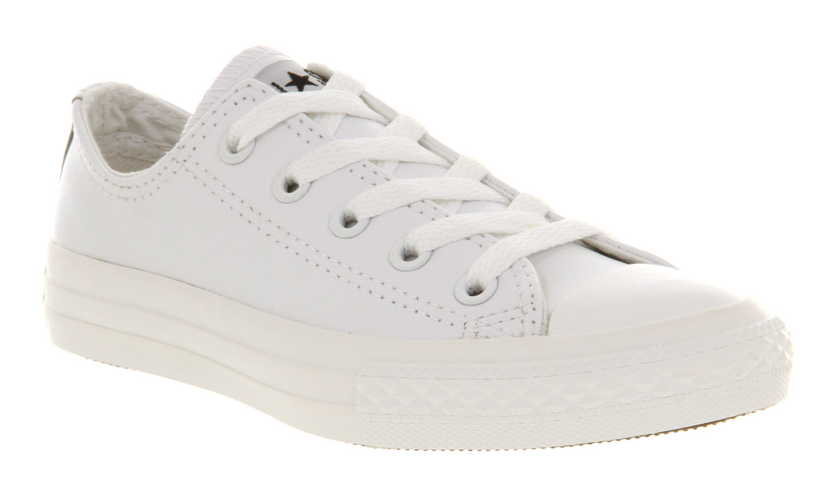 all white converse kids