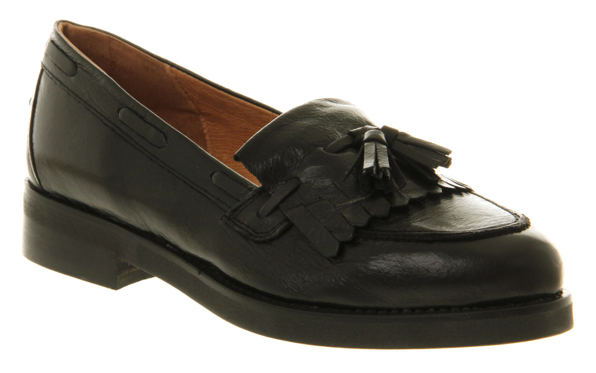 womens office extravaganza loafer black leather flats ebay
