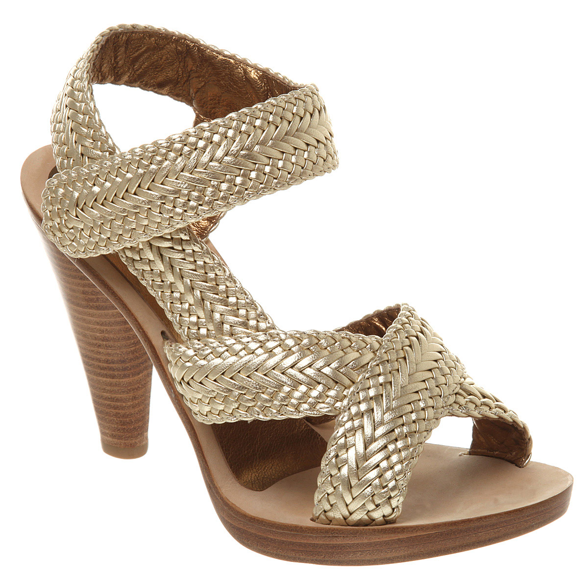 Womens-Cynthia-Vincent-Brady-Platform-Sandal-Gold-Leath