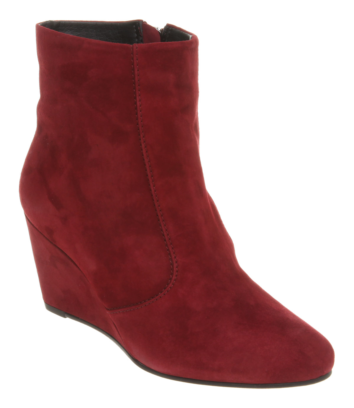 womens office katoir wedge ankle boot burgundy suede boots