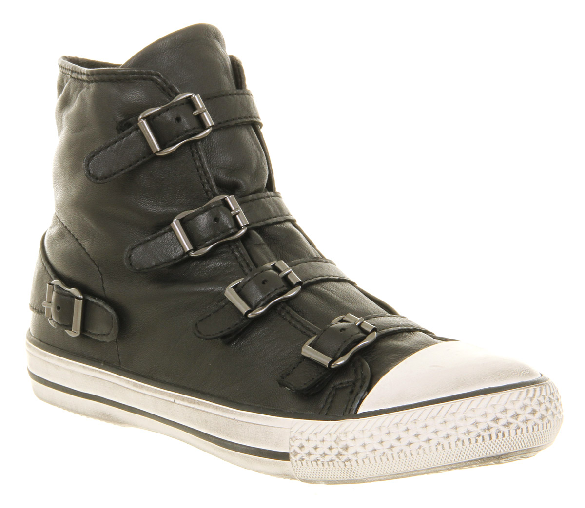 Womens Ash Virgin High Top Black Nappa Wax Boots | eBay