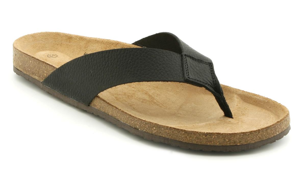 Image Is Loading Mens Office New Sandal Black Leather Sandals