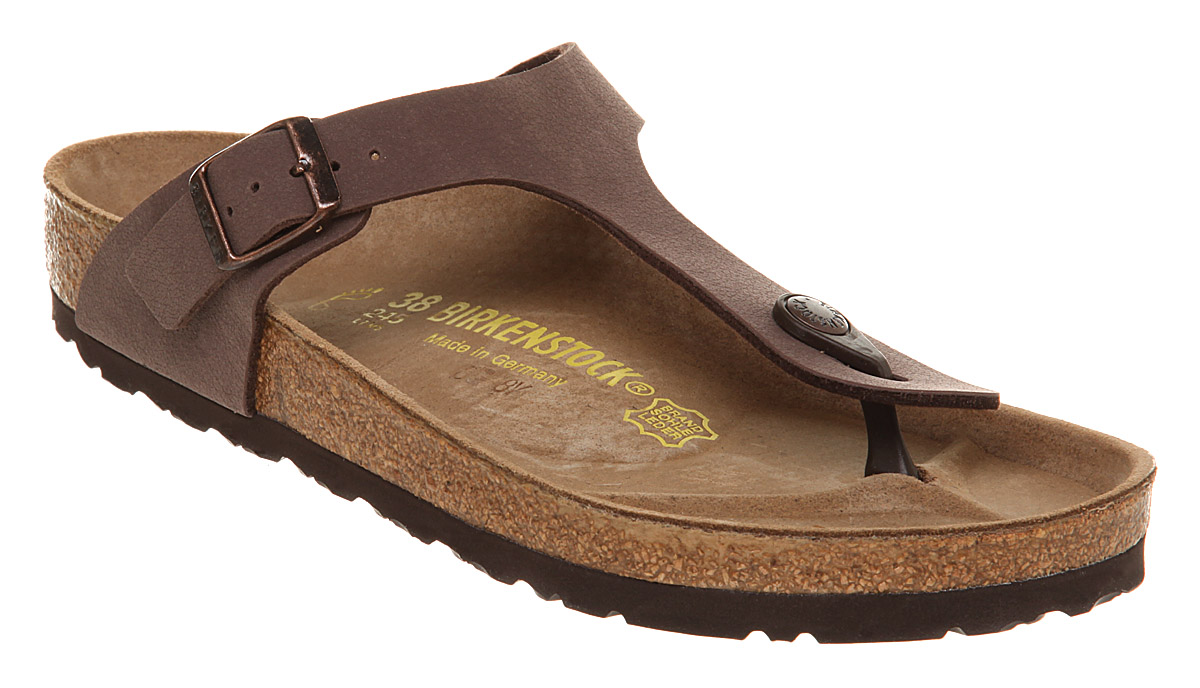 Womens-Birkenstock-Gizeh-Brown-Moca-Sandals