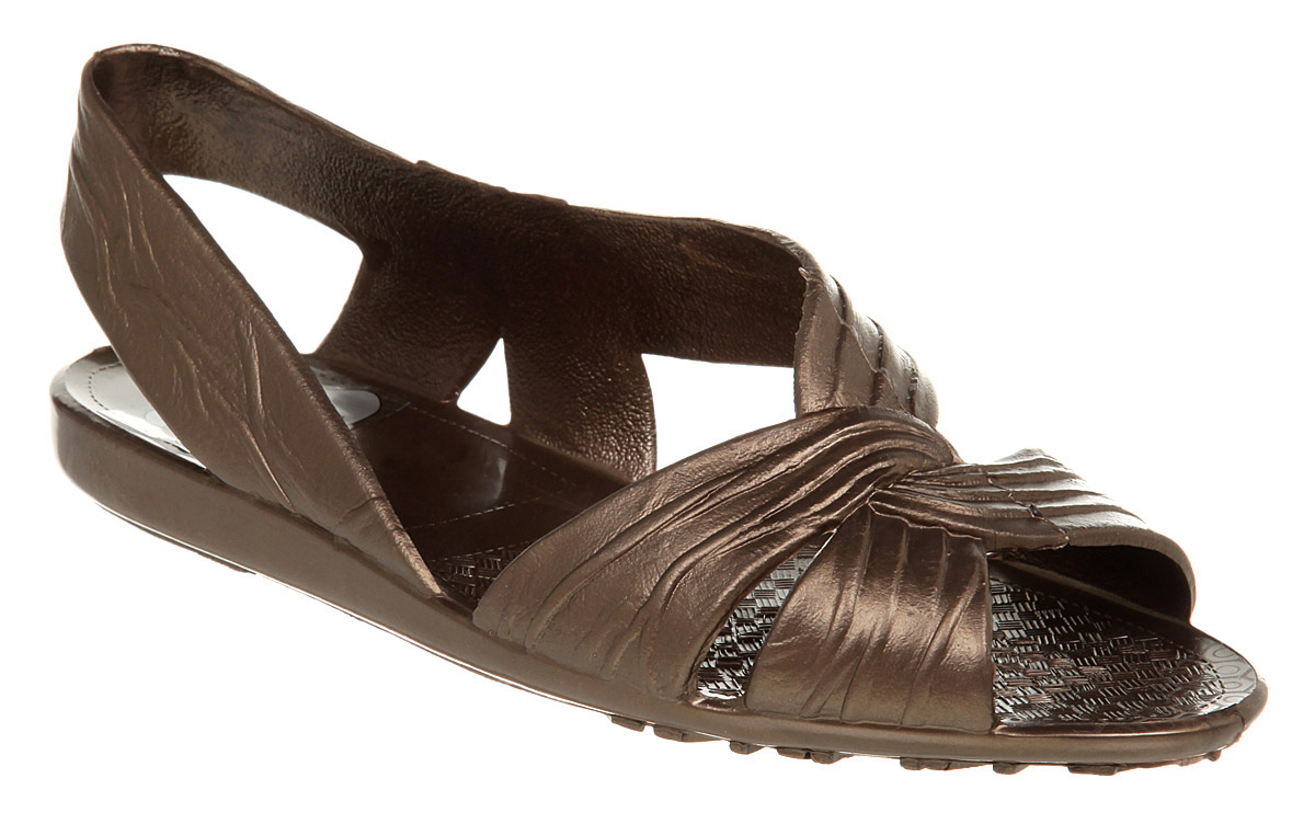 Womens-Juju-Asym-Jellie-Sling-Bronze-Sandals