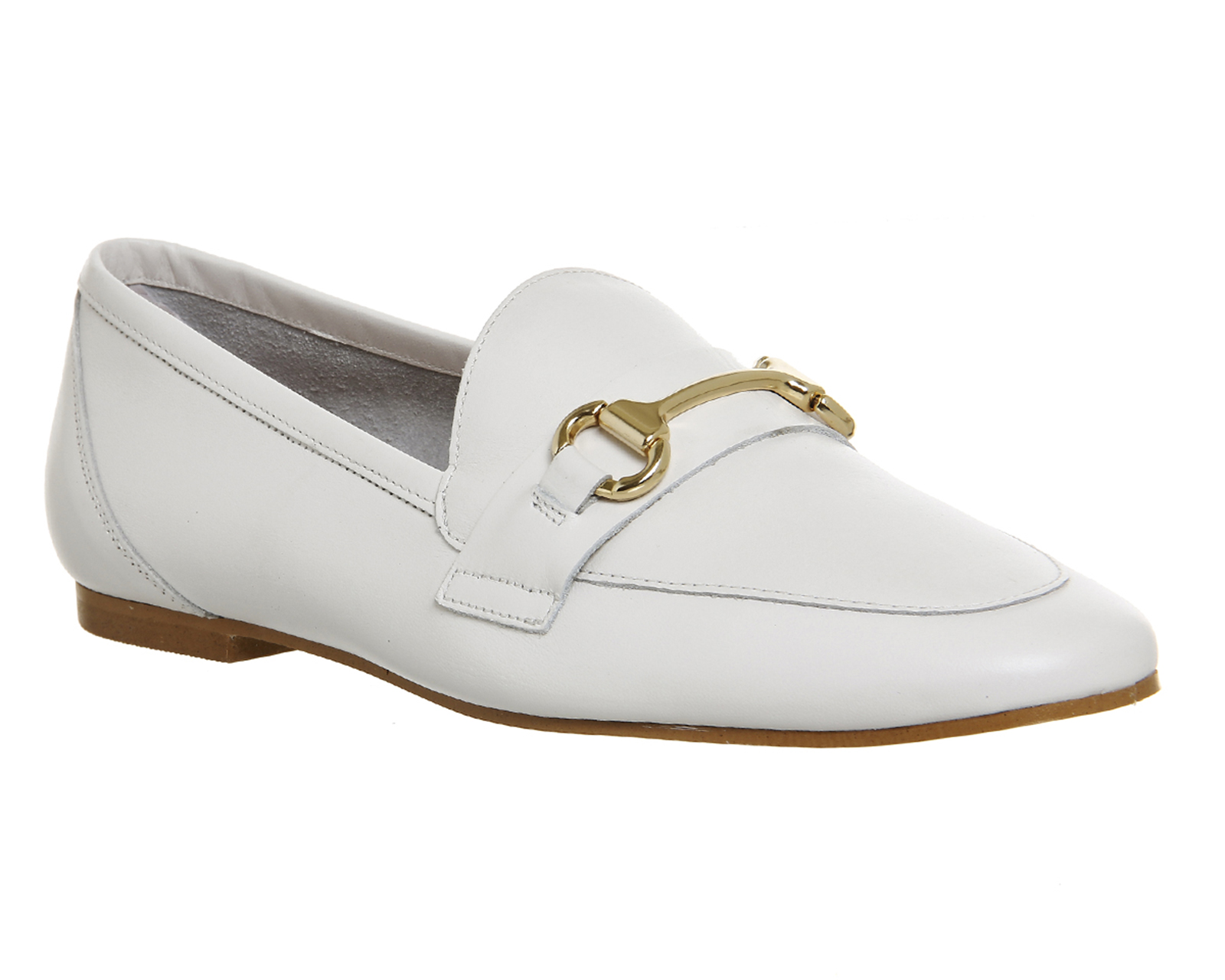 4766af77a6a Womens Office Destiny Trim Loafers OFF WHITE LEATHER Flats