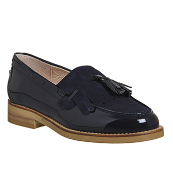 Womens-Office-Extravaganza-Loafer-NAVY-PATENT-SUEDE-Flats