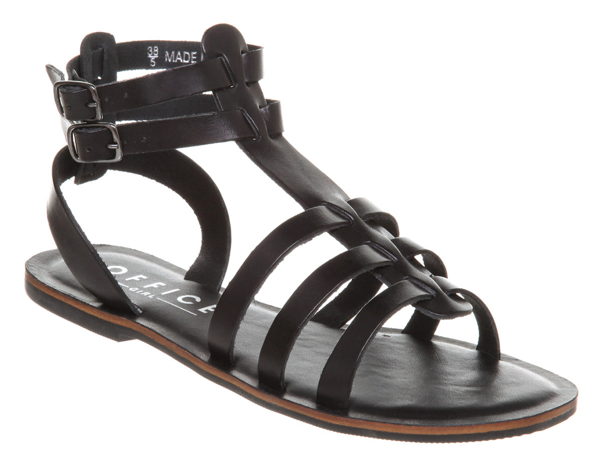 Womens-Office-Helena-Gladiator-Black-Leather-Sandals